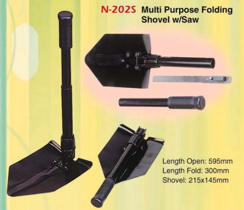 Multi Purpose Folding Shovel w/Saw